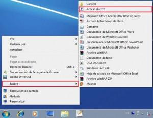 mostrar escritorio windows 7