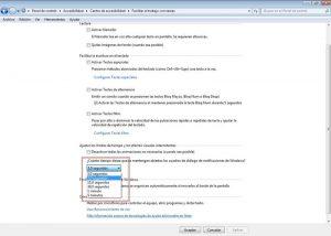 Cuadro de dialogo de Windows 7