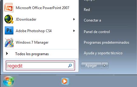 Cambiar el nombre de Usuario y Organización Windows 7