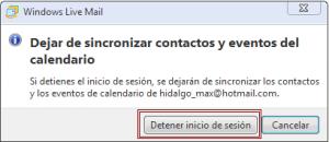 Quitar desvincular eliminar mi cuenta del MSN de Windows Live Mail