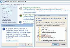 desinstalar internet explores 8 windows 7 ie