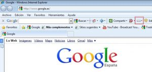 Barra herramienta de google