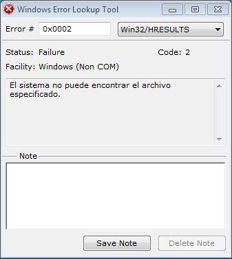 Averiguar los Codigos de Errores de Windows