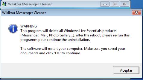 Como desinstalar Windows Live Messenger de forma completa