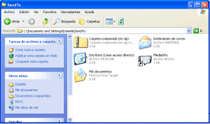 menu enviar a windows xp