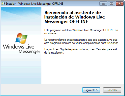Windows Live Messenger ha detectado un problema y debe cerrarse