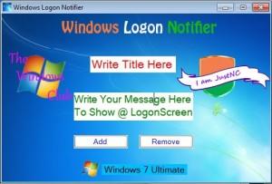 Crear un mensaje en el inicio de sesión para los usuarios de Windows 7