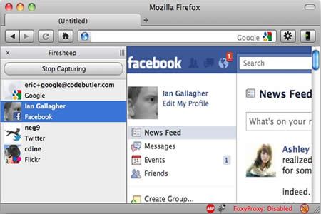 Firesheep Robar cuentas de Facebook, Google, Twitter, Windows Live