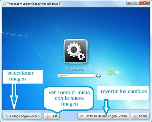 Cambiar el fondo de pantalla del inicio sesión Windows 7