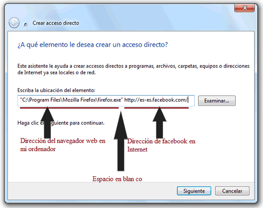 Como anclar Facebook Twitter a la barra de tareas Windows 7