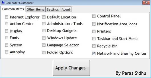 Computer Customizer añadir accesos directos a mi equipo