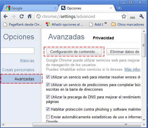 bloquear-JavaScripts-google-chrome-sin-extension