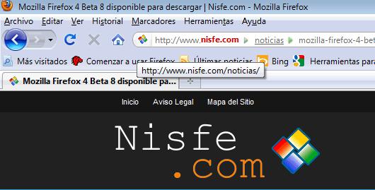 Personalizar la barra de direcciones de Mozilla Firefox