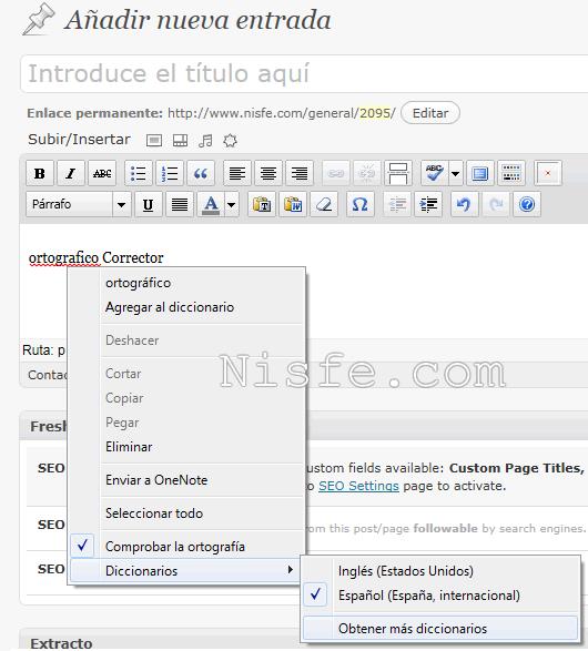 Instalar Speckie Corrector Ortográfico para Internet Explorer 9