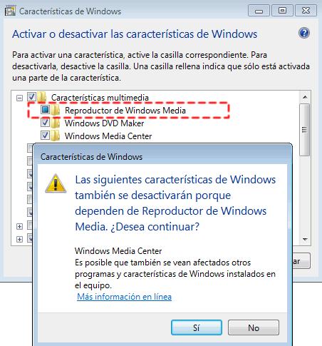 Como Instalar y Desinstalar Windows Media Player 12