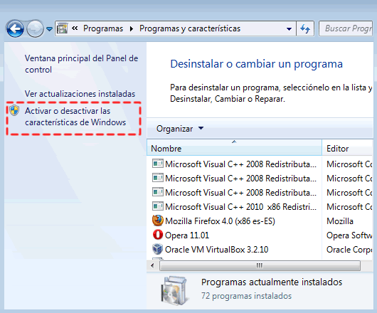Como quitar Windows Media Player 12