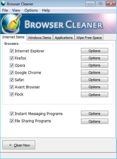 Browser Cleaner, limpiar, borrar y eliminar el historial de Internet