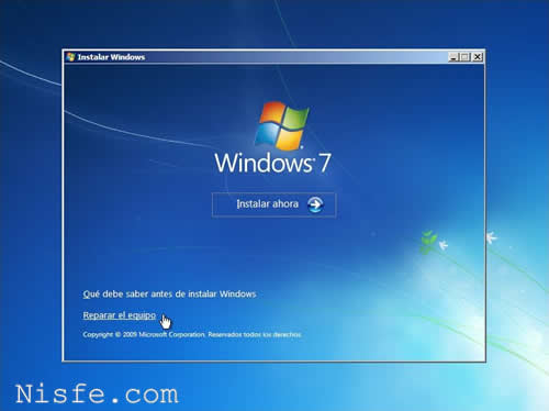 Como Reparar el BOOT y el MBR de Windows 7