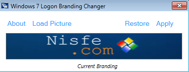 Windows 7 Logon Branding Changer