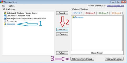 Ocultar Carpetas y Programas de la Barra de Tareas Windows 7