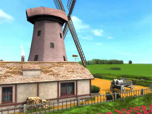 Protector de Pantalla Molino de Viento 3D Windmill ScreenSaver