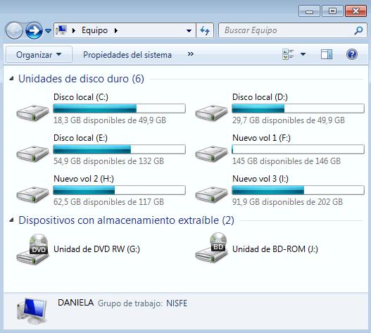 Como ocultar una unidad de disco en Windows 7 con gpedit.msc