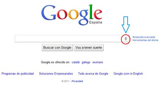 xSpeechKit nos permite buscar en Google con la voz