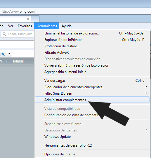 """Deshabilitar las barras de herramientas """"Toolbar"""" de Internet Explorer 9 de forma manual"""