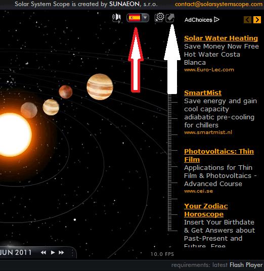 Simulador en 3D de nuestro Sistema Solar