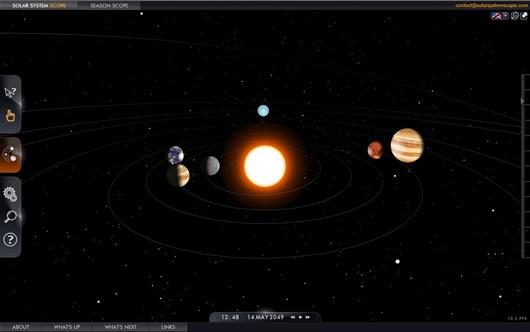 Simulador en 3D de nuestro Sistema Solar Solar System Scope