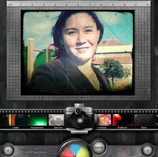 Pixlr-o-matic permite añadir efectos a tus imágenes y fotografías