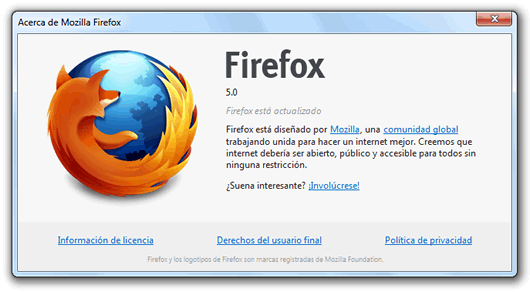 Mozilla Firefox 5 ya está disponible para su descarga