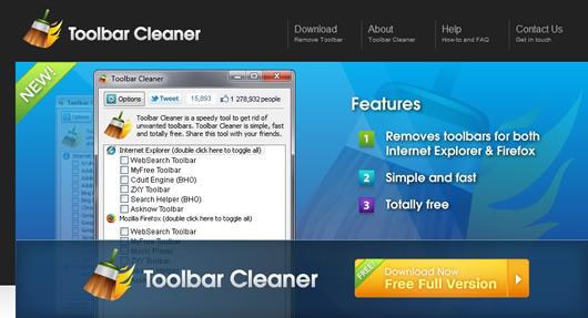 Desinstalar las Barras de Herramientas de Internet Explorer Firefox y Chrome con Toolbar Cleaner