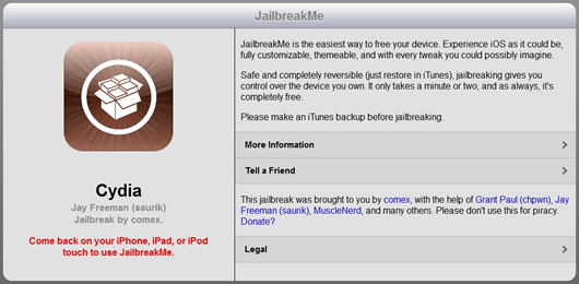 Disponible JalibreakMe 3.0 forma más sencilla hacer Jailbreak (iPhone 4, iPad, iPhone 4, iPod Touch)