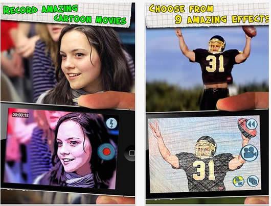 Añadir efectos de dibujos animados a todos tus videos de tu iPhone 3G iPod touch iPad 2