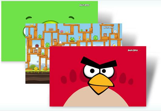 Angry Birds Theme Tema Oficial del Juego para Windows 7