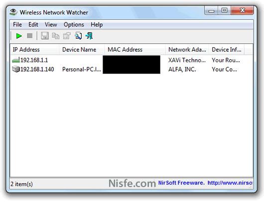 Como saber si mi vecino me roba la señal WiFi con Wireless Network Watcher