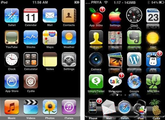 Como instalar un tema en el iPhone 4, iPod Touch desde el ordenador