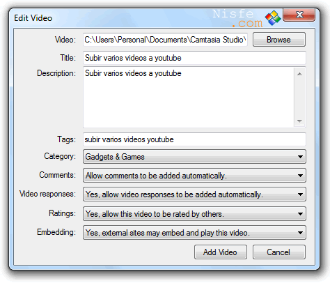 TubeCast. Subir varios vídeos a YouTube desde el escritorio de Windows 7