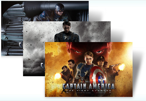 Tema oficial para Windows 7 de la película Capitán América The First Avenger