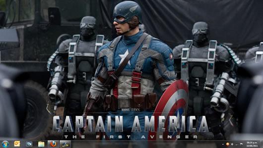 Tema oficial para Windows 7 de la película Capitán América
