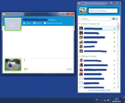 Chatear con tus amigos de Facebook desde el escritorio de Windows Ftalk