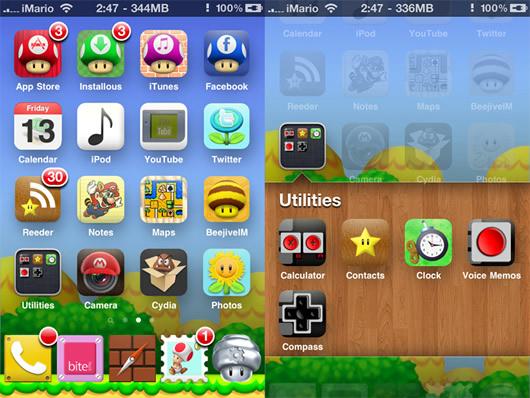 Descargar iMario Tema de Mario Bross para el iPhone 4, iPhone 3G/3GS
