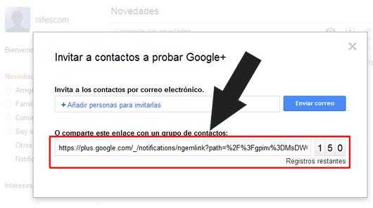 Consigue una invitación para Google+ (Google Plus)