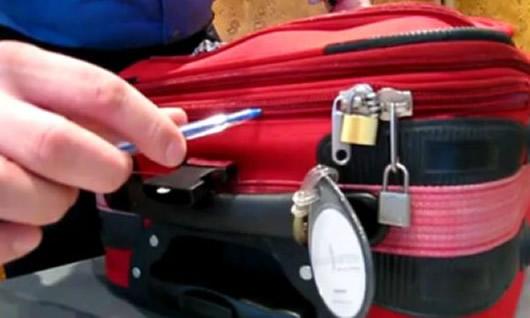 Como abrir una maleta y bolsa de viaje de cremallera con un bolígrafo