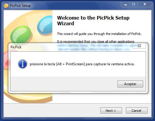 Captura la imagen de la pantalla de tu ordenador o solo una parte de ella con PickPick