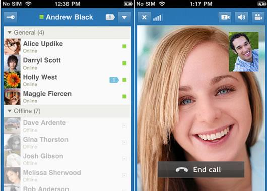 Videollamadas entre iPhone y amigos conectados en Facebook desde el ordenador. IM+ Vídeo