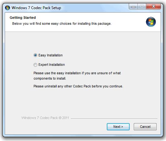Windows 7 Codec Pack. Reproduce archivos multimedia sin problemas