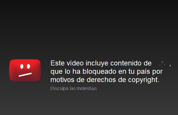 Este vídeo incluye contenido que ha sido bloqueado en tu país