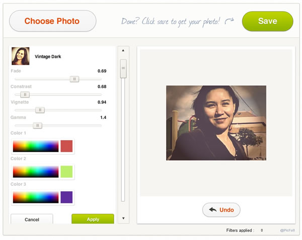 Añadir efectos a nuestras fotografías de forma online con Picfull